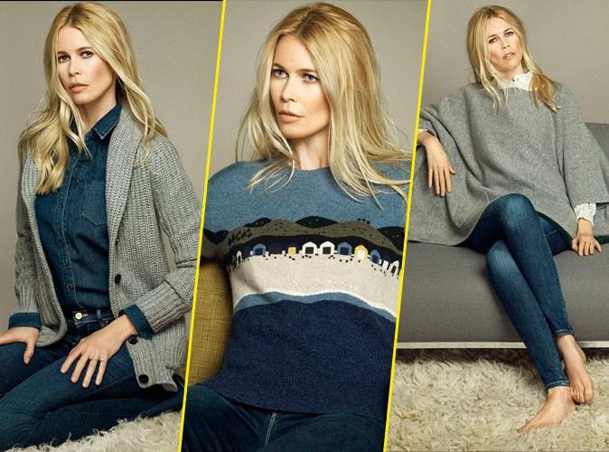 Photos : la bombe allemande Claudia Schiffer lance sa propre collection de cashmere !