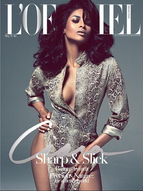 Ciara, en couverture du magazine L'Officiel
