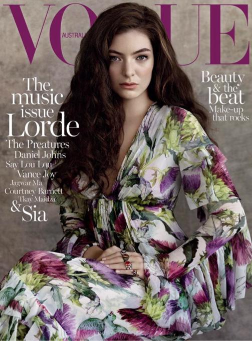 Lorde, la nouvelle cover girl du mois de juillet pour le Vogue Australia