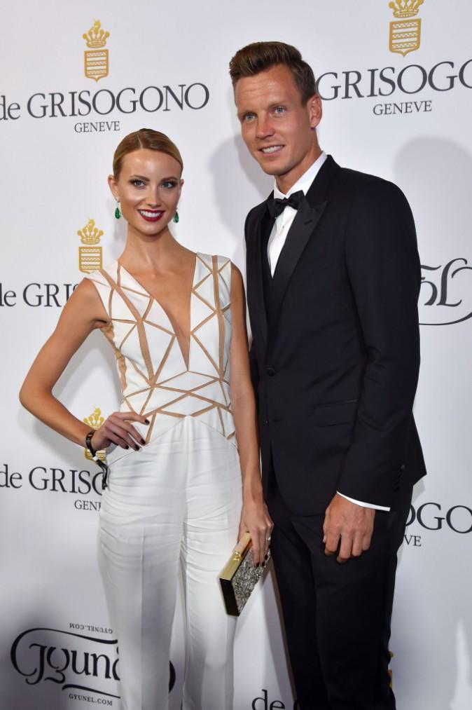 Les plus beaux beauty look de la soirée de Grisogono : le tennisman Tomas Berdych et sa compagne Ester Satorova