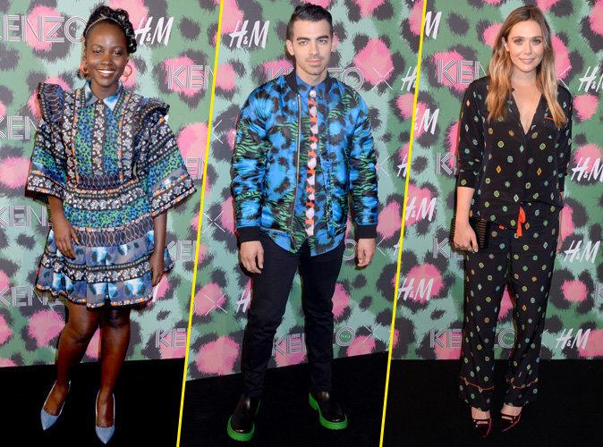 Photos : Lupita Nyong'o, Joe Jonas, Elizabeth Olsen : Invités VIP à la soirée de lancement déjantée de Kenzo x H&M !