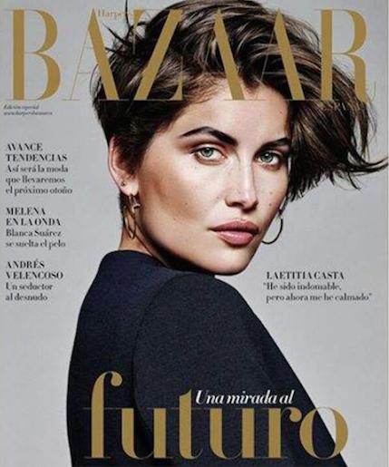 Laetitia Casta en couverture Harper Bazaar Espagne
