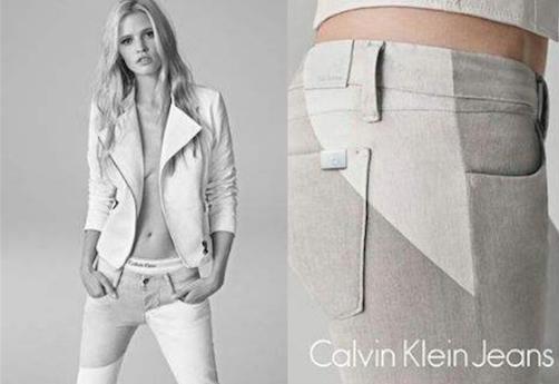 Lara Stone pour Calvin Klein