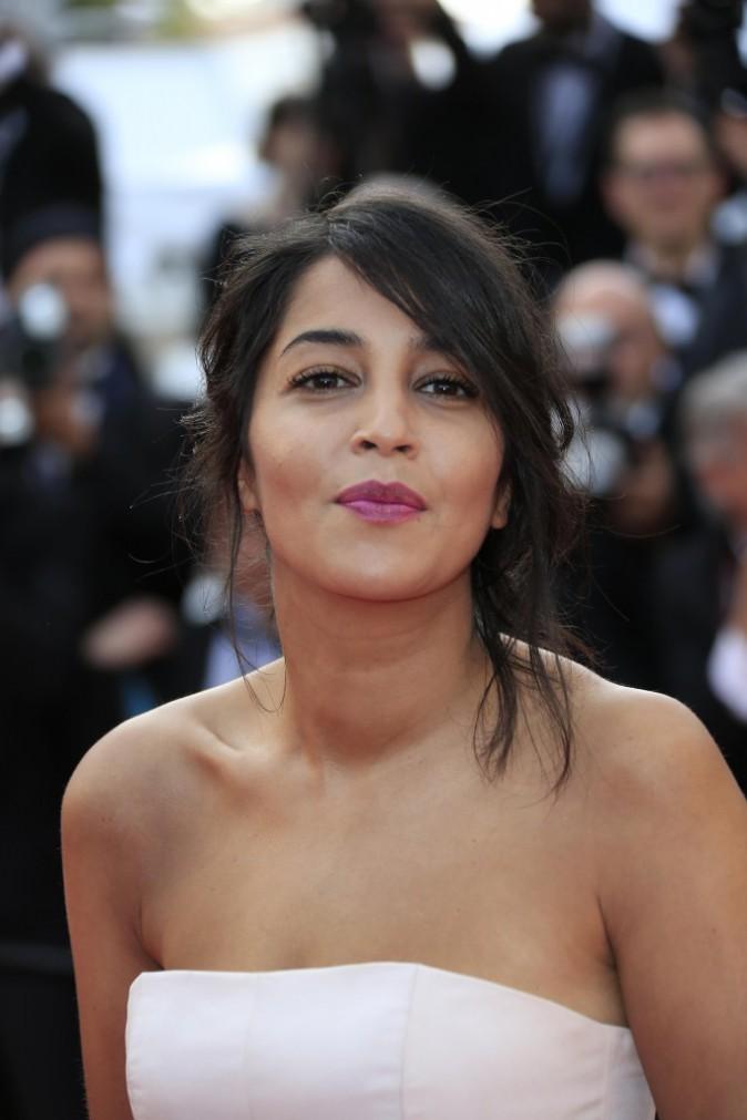 Leïla Bekhti, égérie L'Oréal Paris, habillée en robe Giambattista Valli le 13 mai 2015 à Cannes