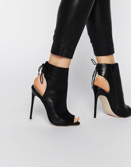 Bottines peep toe, 62,99€
