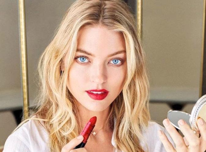 Photos : Les lèvres de Martha Hunt sublimées par le nouveau rouge Revlon !