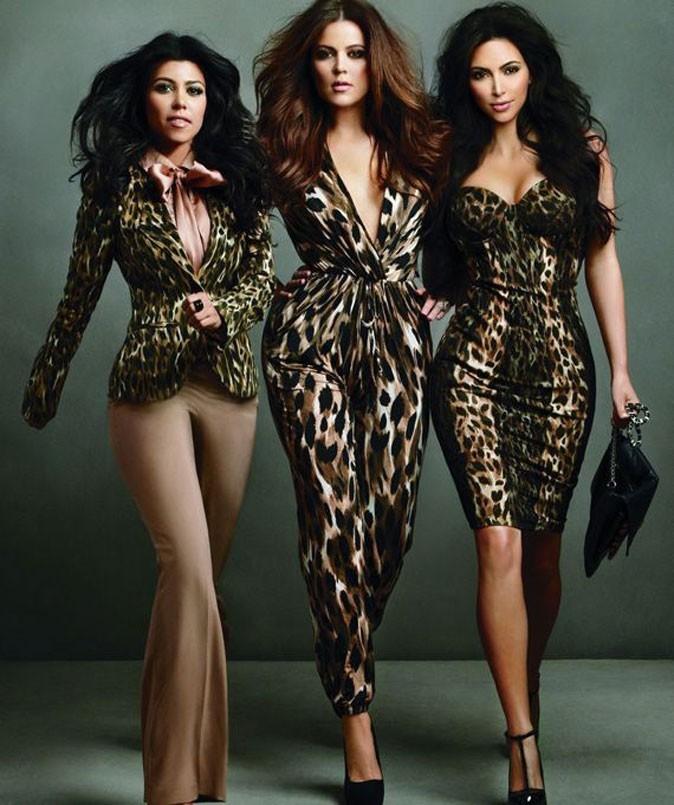 Kim, Khloé et Kourtney toutes de léopard vêtues !