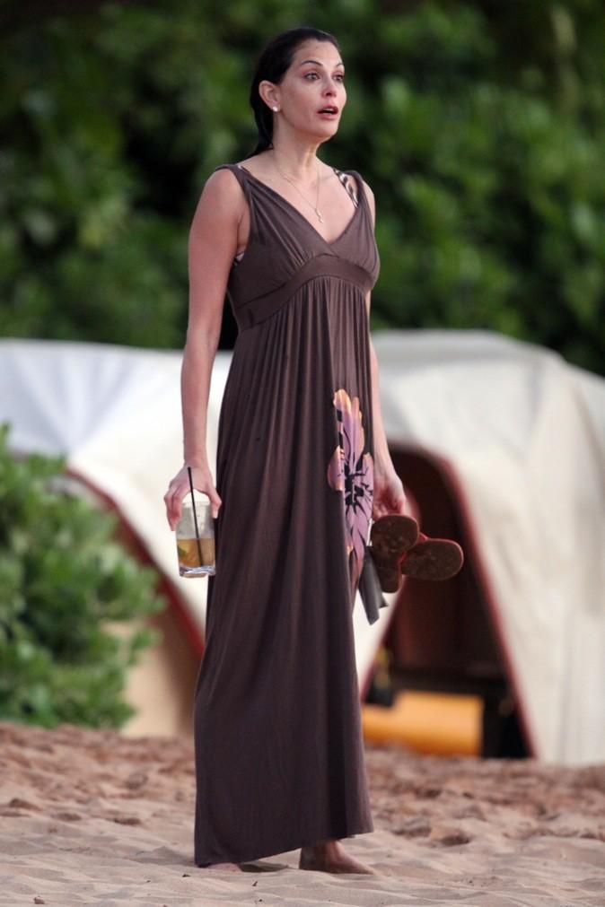 Longue robe marron pour le couché de soleil !