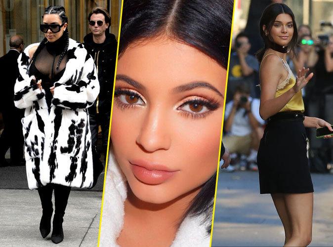 Lèvres nude, tresses plaquées, choker : 22 tendances relancées par les soeurs Kardashian en 2016