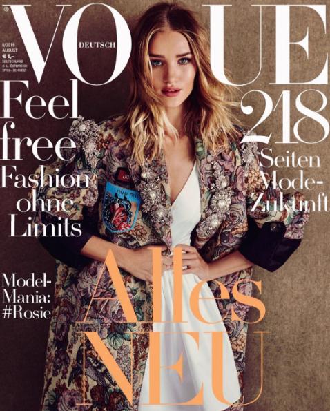 Rosie Huntington-Whiteley ultra stylée en couverture de Vogue Allemagne