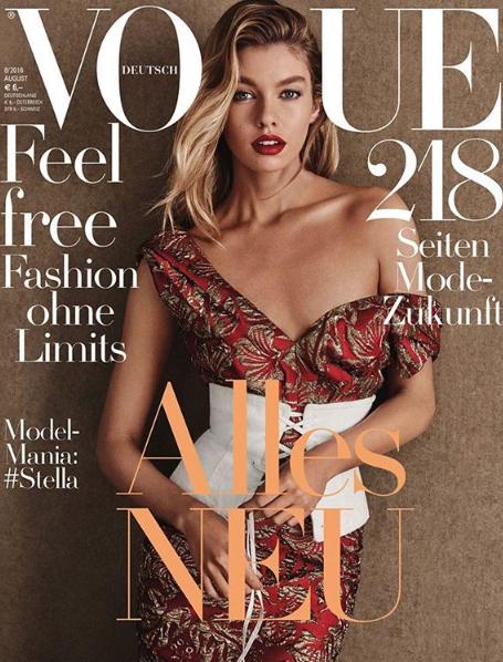 Stella Maxwell ultra stylée en couverture de Vogue Allemagne