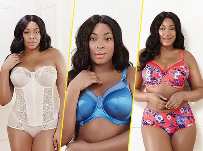 """Photos : Liris Crosse : le mannequin """"grande-taille"""" s'offre la dernière campagne Goddess Lingerie !"""
