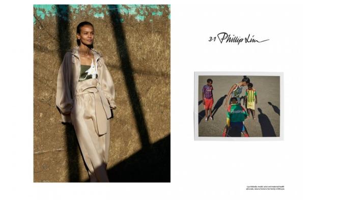 Photos : Liya Kebede : saisissante pour la nouvelle campagne 3.1 Phillip Lim