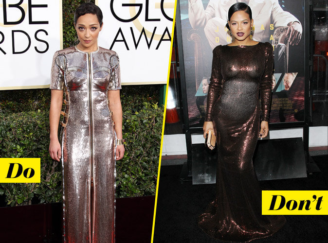La robe métalisée - Do : Ruth Nega / Don't : Christina Milian