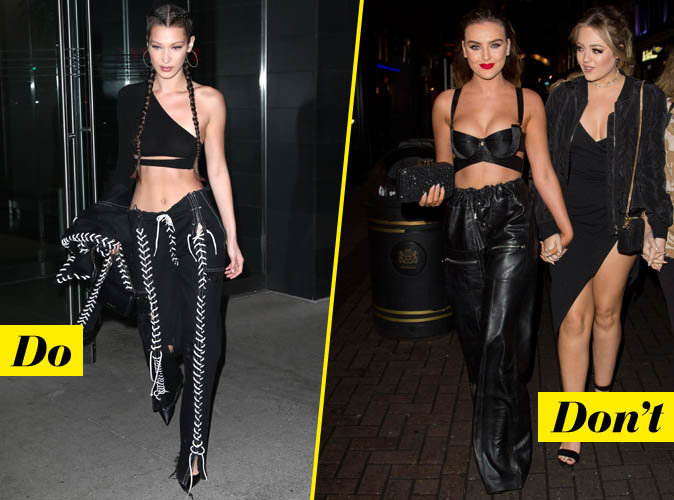 Le croptop très crop - Do : Bella Hadid / Don't : Perrie Edwards