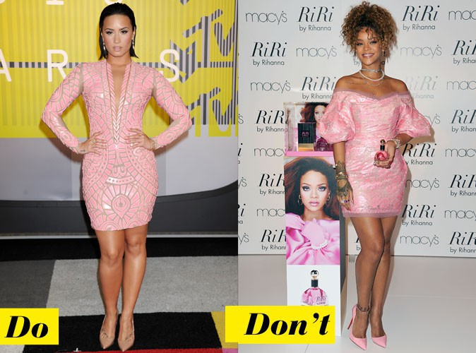 La robe poudrée - Do : Demi Lovato / Don't : Rihanna