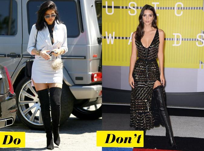 Les cuissardes - Do : Kylie Jenner / Don't : Emilie Ratajkowski