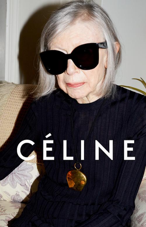 Joan Didion, 81 ans, égérie Céline