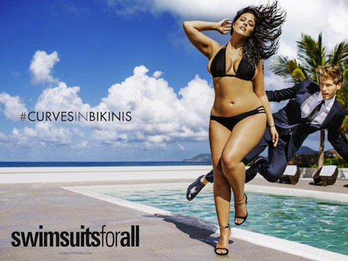 La belle Ashley Graham, mannequin plus size pour Sports Illustrated