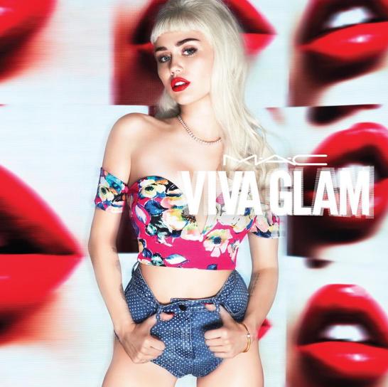 Miley Cyrus pour MAC Cosmétiques