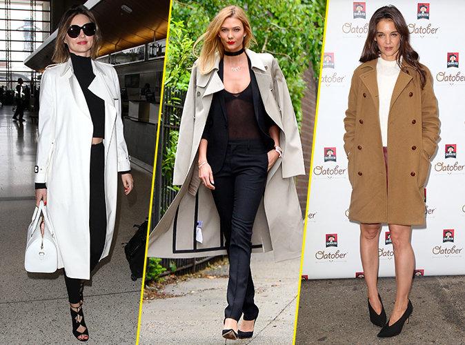 Photos : Miranda Kerr, Karlie Kloss, Katie Holmes : Comment porter le trench comme une star ?