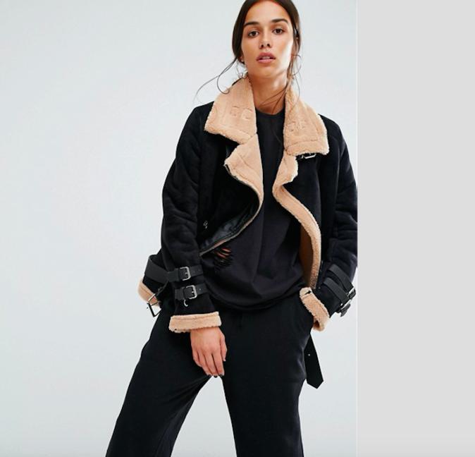 Veste avec doublure en fausse fourrure - BOOHOO - ICI pour 74,99€