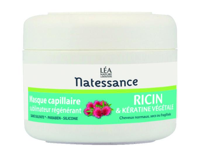 Masque capillaire Natessance au ricin et à la kératine végétale