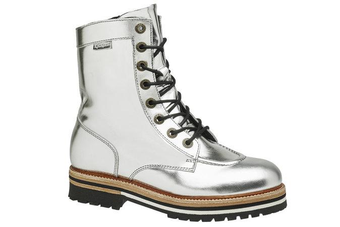 Boots de rando : En cuir métallisé, Kickers 159 €