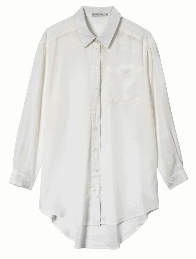 Longue chemise en coton, Gémo 19,99 €