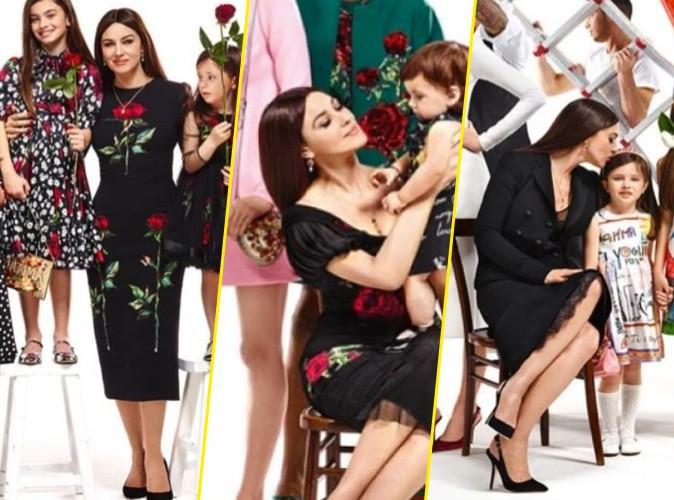 "Photos : Monica Bellucci, la ""bella mamma"" de la dernière campagne Dolce & Gabbana !"