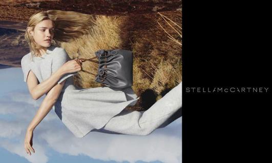 Natalia Vodianova pose pour la campagne automne - hiver 2015 de Stella McCartney
