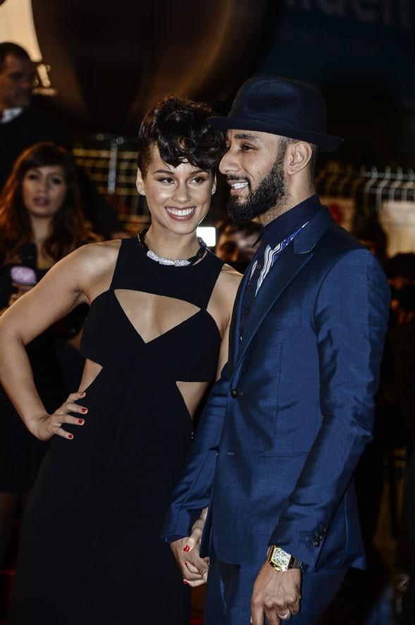 Alicia Keys sur le tapis rouge des 14èmes NRJ Music Awards