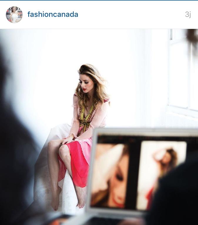 Photos : Olivia Palermo : beauté romantique en couverture de Fashion Magazine Canada!