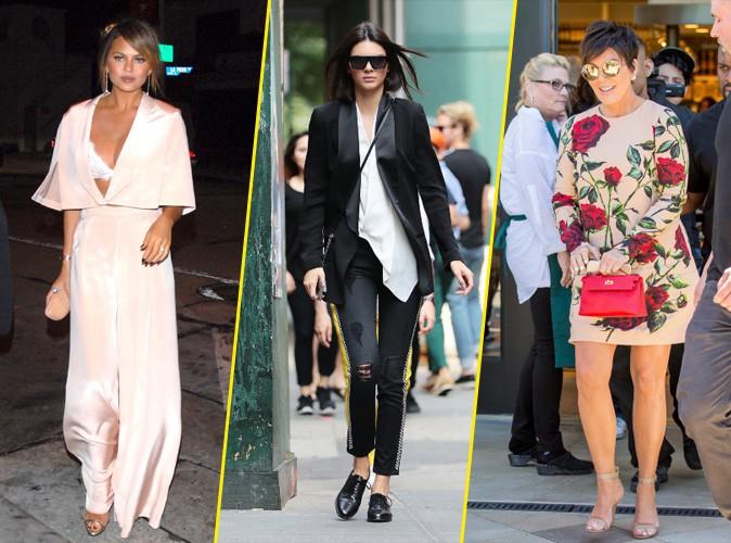Photos : Palme Fashion : Chrissy Teigen, Kendall Jenner, Kris Jenner... Qui a été la plus stylée de la semaine ?
