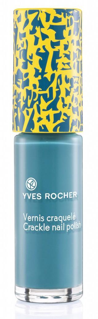 Le bleu turquoise : Bleu Méditerranée Vernis craquelé, Yves Rocher 3,95 €