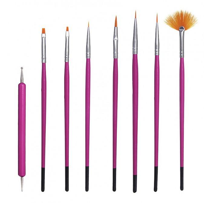 les bons outils : Pinceaux Nail Art, Asos 7,99€