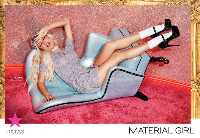 Photos : Pia Mia : la campagne Material Girl est enfin là !