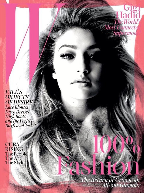 Gigi Hadid en couverture de WMag