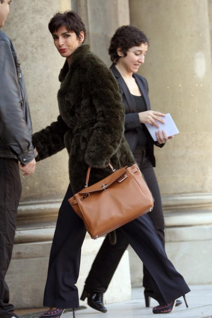 08/02/2008 : Rachida Dati arrive à l'Elysée