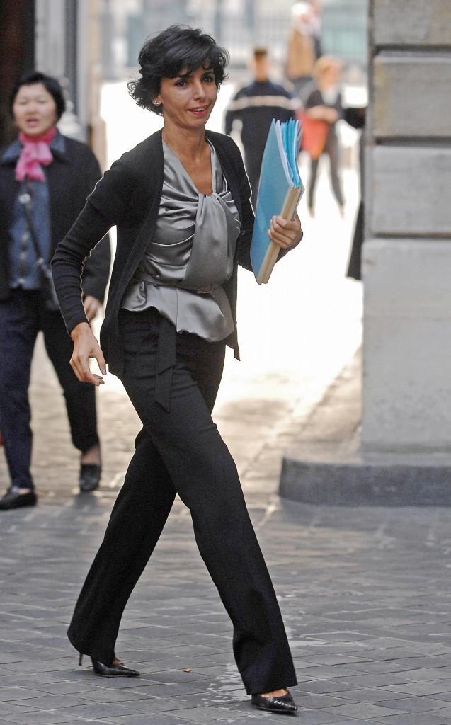 21/09/2007 : Rachida Dati revient d'une réunion avec le Directeur du FBI, Robert Mueller, à Paris