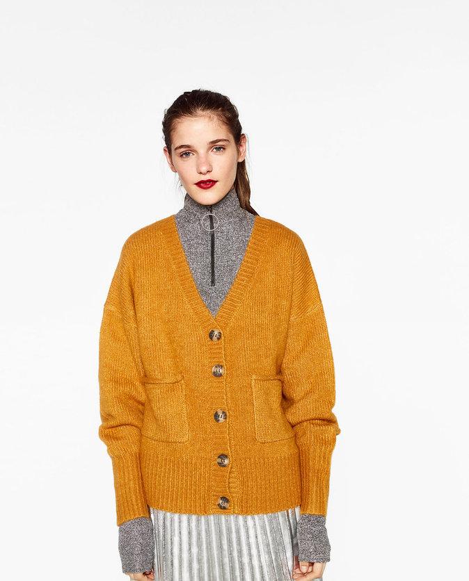 1) Gilet à col en V – Zara – 39,95€
