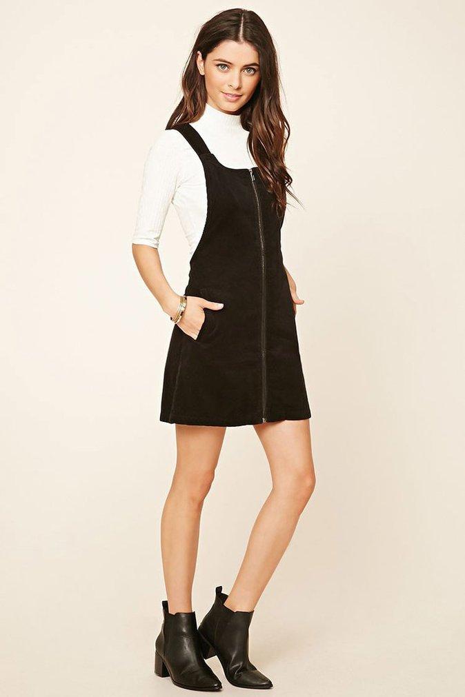 Robe zippée en velours côtelé – Forever 21 – 25€