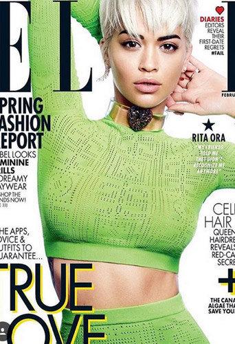 Photos : Rita Ora affiche fièrement sa coupe Calimero en Une de ELLE Canada !