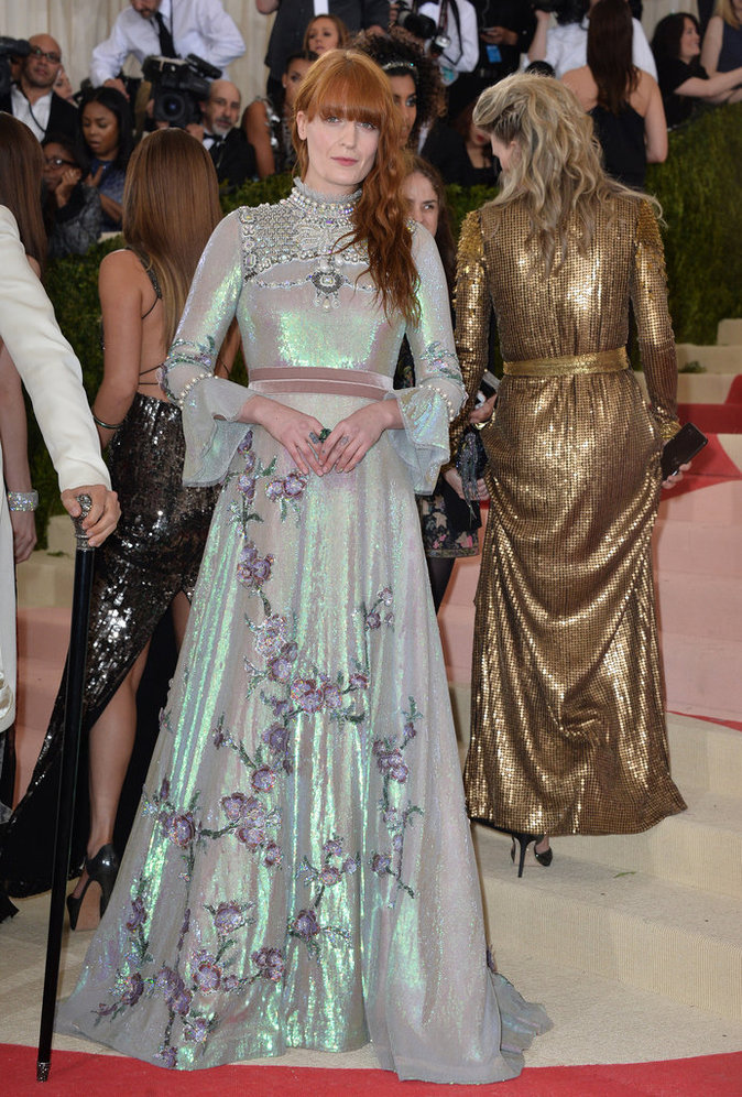 Florence Welch sur le red carpet du Met Gala 2016
