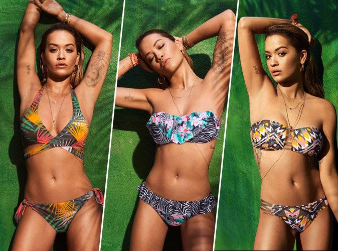 Rita Ora : sexy et tropicale pour Tezenis