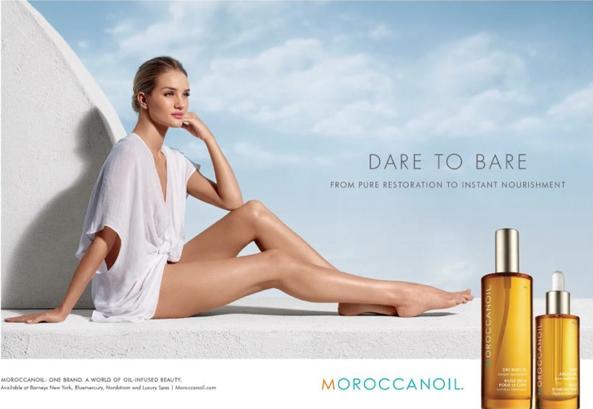 Rosie Huntington-Whiteley présente la nouvelle campagne de Moroccanoil