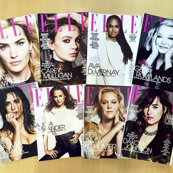 Photos : Salma Hayek, Kate Winslet... Toutes divines en une de ELLE US !