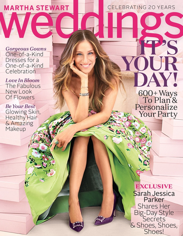 Sarah Jessica Parker en couverture de Martha Stewart Weddings