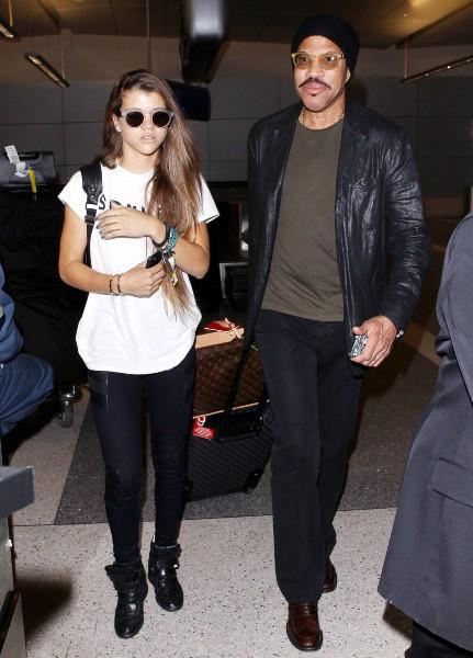 Sofia Richie et son célèbre père Lionel Richie.