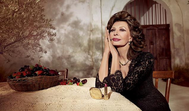 Sophia Loren pour Dolce & Gabbana